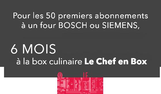 6 mois offert à la box culinaire Le Chef en Box