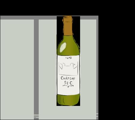 Bouteille de vin blanc sec