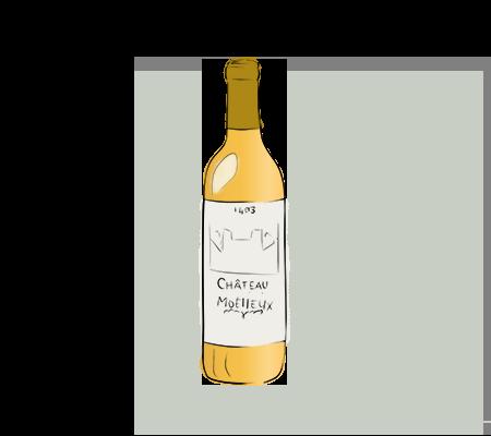Bouteille de vin blanc moelleux