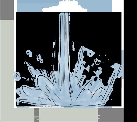 Rincer à l'eau