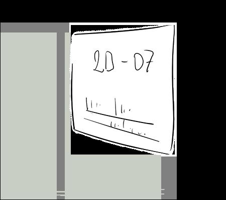 Étiquette avec une date