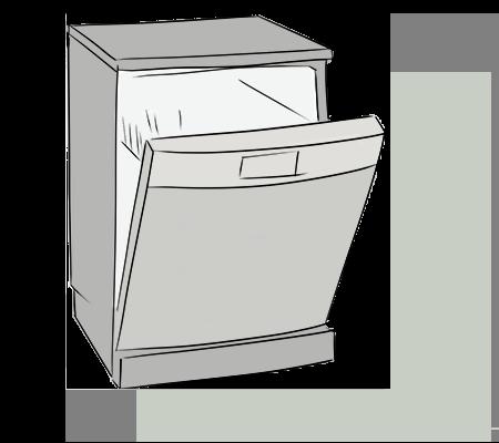 La porte du lave vaisselle