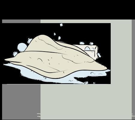 Un chiffon imbibé d'eau savonneuse