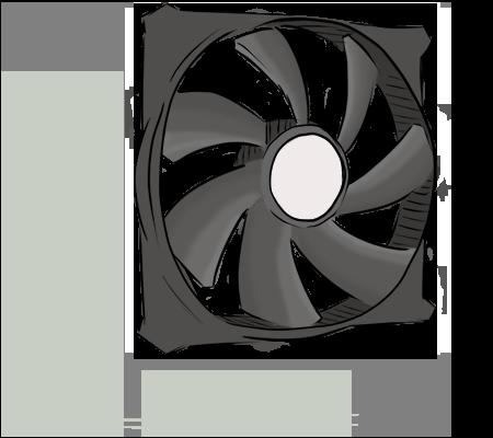 Un ventilateur d'ordinateur
