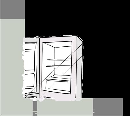 Un réfrigérateur au soleil