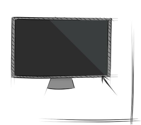 Cadre de télévision propre